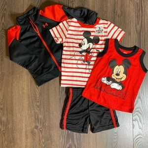 NWT Mickey shirts and UNDER Armour jacket